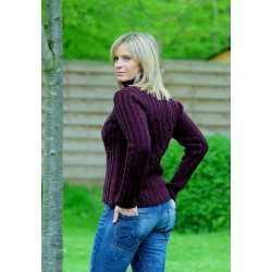 Pull à col roulé laine vierge et cachemire