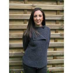 2 buttons cardigan, virgin wool and cashmere