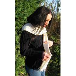 Handknit merino wool scarf
