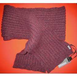Écharpe à larges nervures en laine vierge et cachemire