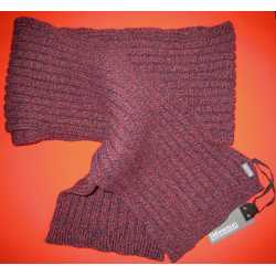Ribbed scarf, virgin wool and cashemere