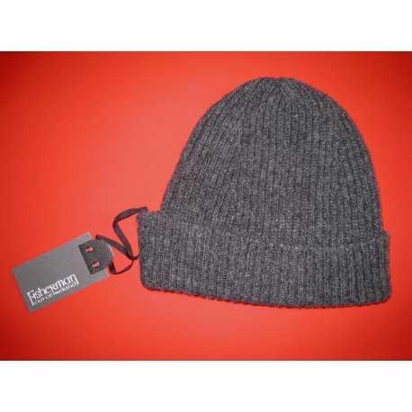 Bonnet strié 100 % laine vierge mérinos extra-fine