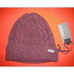 Bonnet strié et torsadé en laine vierge mérinos et cachemire