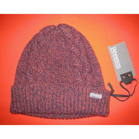 Cable and rib hat, virgin merino wool and cashmere
