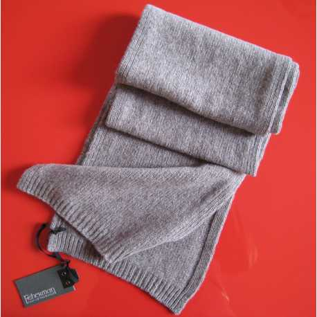 Jersey stitch scarf 100% extrafine virgin merino wool
