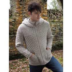 Cardigan zippé avec capuche 100% laine mérinos