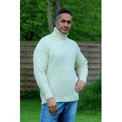 Roll neck sweater 100% merino wool