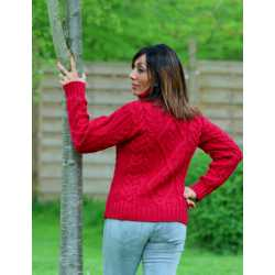 Traditional turtle neck sweater 100% merino wool