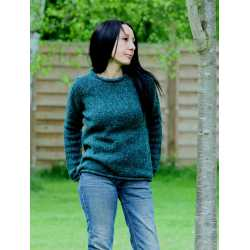 Roll neck sweater, 100% Donegal virgin wool