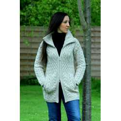 Double collar coat 100% merino wool