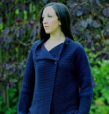 Cardigan Fisherman Out Of Ireland 2 boutons pour femme